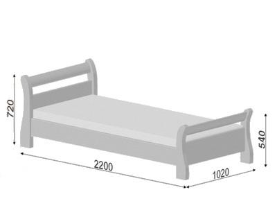 размеры кровати Estella Diana