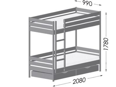 размеры кровати Estella Duet