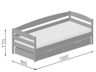 размеры кровати Estella Note Plus