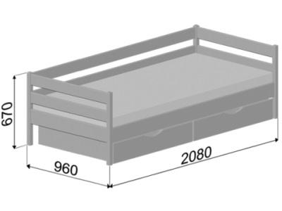 размеры кровати Estella Note