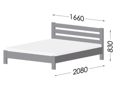 размеры кровати Estella Renata Lux