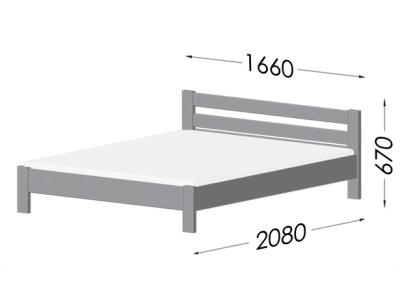 размеры кровати Estella Renata