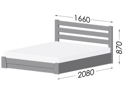 размеры кровати Estella Selena