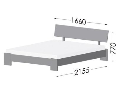 размеры кровати Estella Titanium
